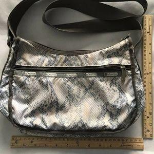 Lesportsac Bags - LESPORTSAC Snake Print Nylon Crossbody
